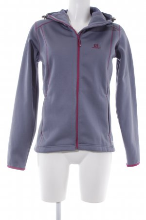 Salomon Veste softshell gris ardoise-violet lettrage brodé style simple