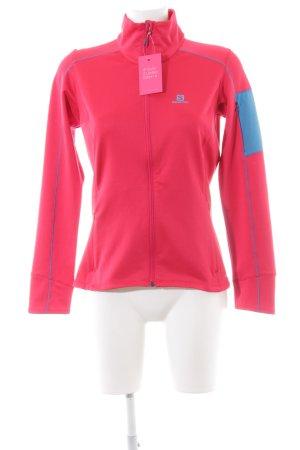Salomon Sportjacke rot-blau sportlicher Stil