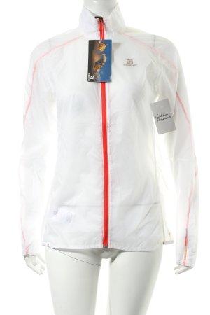 Salomon Windstopper weiß-rot sportlicher Stil