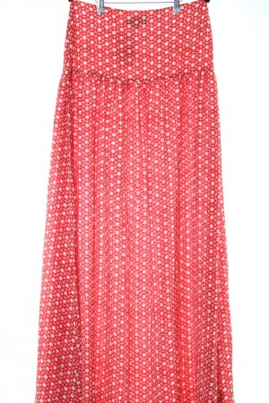 Saloni Maxi rok rood-wit volledige print casual uitstraling