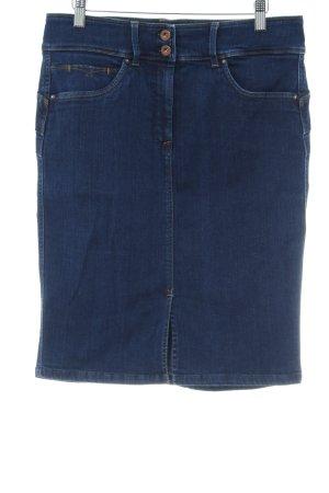 Salsa Jeansrock stahlblau Jeans-Optik