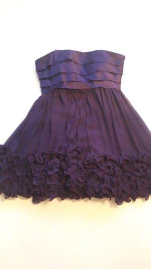 Off the shoulder jurk grijs-paars-donkerpaars Polyester
