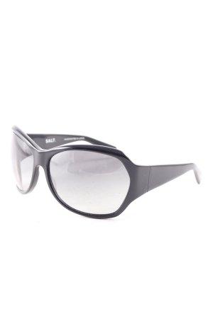 Salt.Optics ovale Sonnenbrille schwarz schlichter Stil