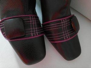 Salvador Sapena Damen Stiefel Leder Gr. 37 braun Designerstiefel wie neu