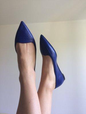 Salvatore ferragamo Ballerine en pointe bleu cuir