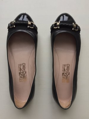 Salvatore ferragamo Ballerines Mary Jane noir cuir