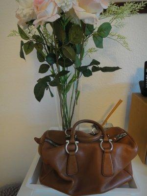 Salvatore ferragamo Bowling Bag brown leather