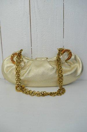 SALVATORE FERRAGAMO Damen Tasche Schultertasche Abendtasche Leder Metallic