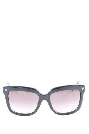 Salvatore ferragamo eckige Sonnenbrille schwarz-weiß abstraktes Muster