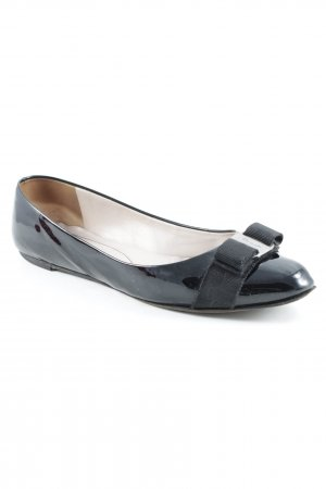 Salvatore ferragamo Lackballerinas schwarz Brit-Look