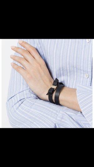 Salvatore Ferragamo Leder Armband mit silberfarbe Spange 100% Original