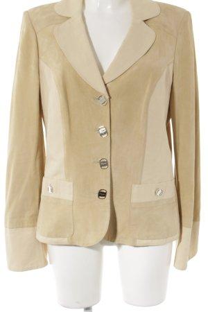 Salvatore ferragamo Leren blazer room-beige casual uitstraling