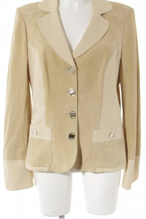 Salvatore ferragamo Leder-Blazer creme-beige Casual-Look