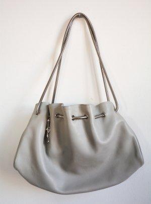 Salvatore ferragamo Pouch Bag light grey leather