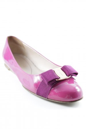 Salvatore ferragamo Mary Jane Ballerinas violett Business-Look