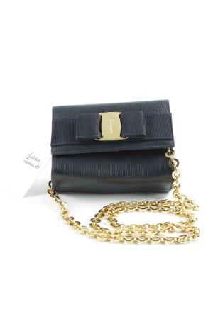 Salvatore ferragamo Minitasche goldfarben-dunkelblau klassischer Stil