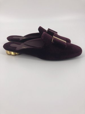 Salvatore ferragamo Mules blackberry-red leather