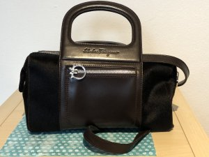 "SALVATORE FERRAGAMO Pony Hair Mini Satchel ""Sofia"""