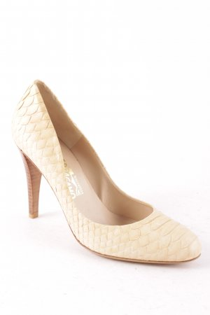 Salvatore ferragamo Pumps creme Reptil-Optik