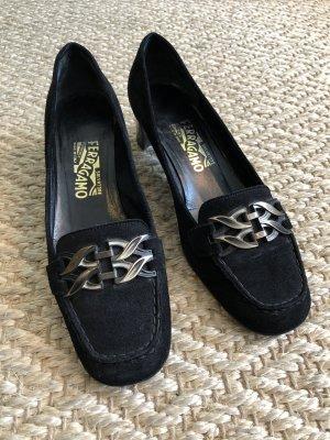 Salvatore ferragamo Zapatos formales sin cordones negro-color oro