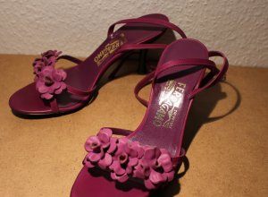 Salvatore ferragamo Strapped High-Heeled Sandals violet leather