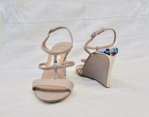 Salvatore ferragamo Wedge Sandals nude leather