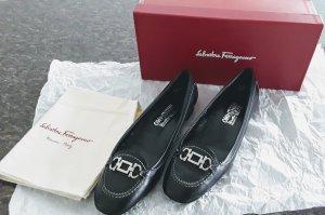 Salvatore Ferragamo schwarze Schuhe wenig getragen