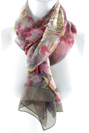 Salvatore ferragamo Silk Scarf red-brown flower pattern animal print