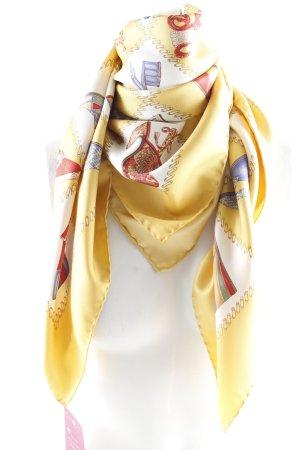 Salvatore ferragamo Foulard en soie doré imprimé avec thème élégant