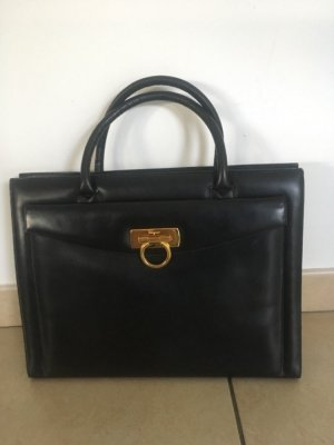 Salvatore ferragamo Handbag black-gold-colored leather