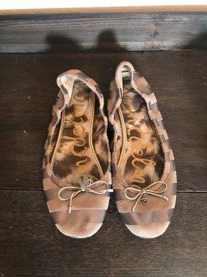 Sam edelman Bailarinas plegables marrón grisáceo-beige Cuero
