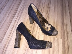 * SAM EDELMAN BLOGGER Plateau Pailletten Pumps * Gr. 40 * Model Miu Miu