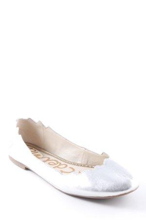 Sam edelman Lakleren ballerina's zilver casual uitstraling