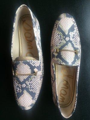 SAM EDELMAN - Loraine Bit Loafer - Pink snake print