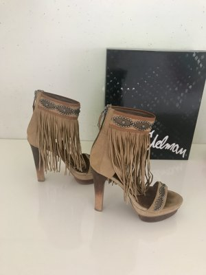 Sam Edelman Natural Fransen Wildleder Sandals Gr.37