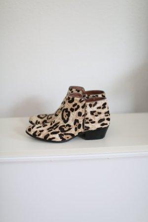 Sam Edelman Petty Leopard Boots Ankle Booties Animal Print Gr. 37