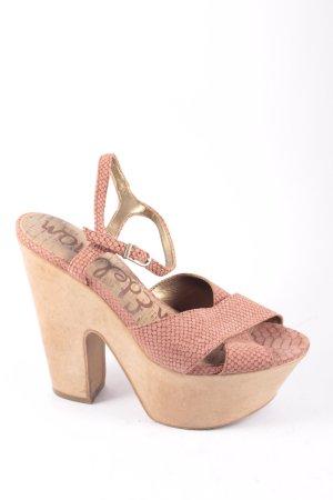 Sam edelman Plateau-Sandaletten rosé-braun extravaganter Stil