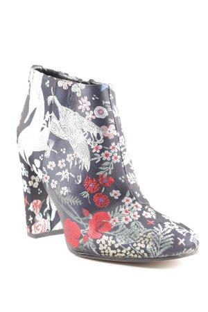 Sam edelman Reißverschluss-Stiefeletten florales Muster extravaganter Stil