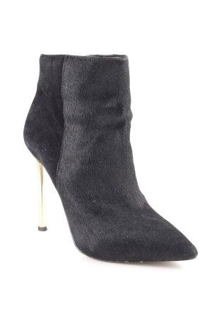 Sam edelman Reißverschluss-Stiefeletten schwarz-goldfarben Elegant