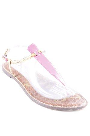 Sam edelman Zehentrenner-Sandalen beige-neonpink extravaganter Stil