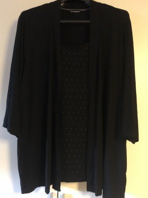 Samoon by Gerry Weber Twin set in jersey nero-argento
