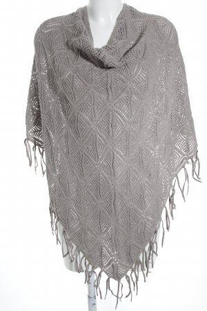 Samoon by Gerry Weber Strickponcho grau Boho-Look