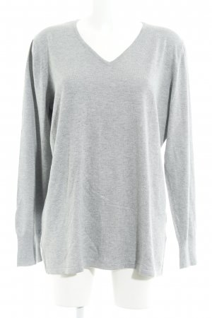 Samoon by Gerry Weber Strickpullover hellgrau Casual-Look