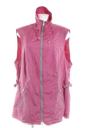 Samoon by Gerry Weber Übergangsjacke pink-grau florales Muster Casual-Look