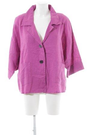 Samoon Kurzarmhemd violett schlichter Stil