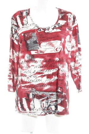 Samoon Longsleeve abstraktes Muster Casual-Look