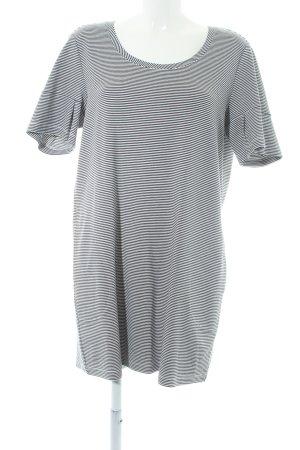 Samoon T-shirt jurk zwart-wit gestreept patroon casual uitstraling