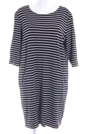 Samoon Shirt Dress natural white-black striped pattern simple style
