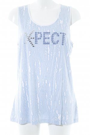 Samoon Knitted Top light blue-white abstract pattern casual look