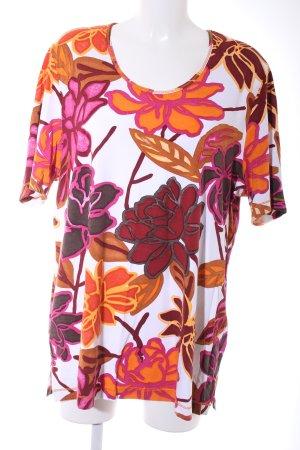 Samoon T-Shirt Blumenmuster Casual-Look